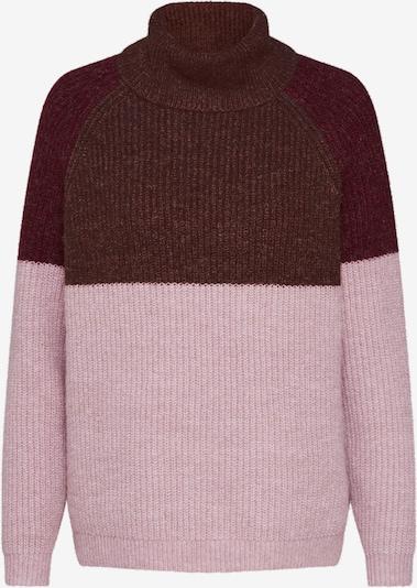 ONLY Pullover 'CORA' in braun / altrosa / weinrot, Produktansicht