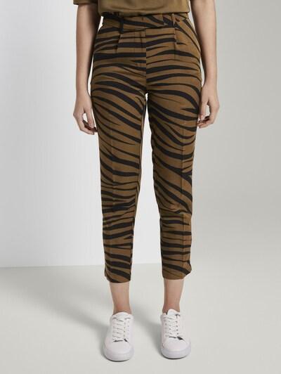 MINE TO FIVE Hose in khaki / schwarzmeliert, Modelansicht
