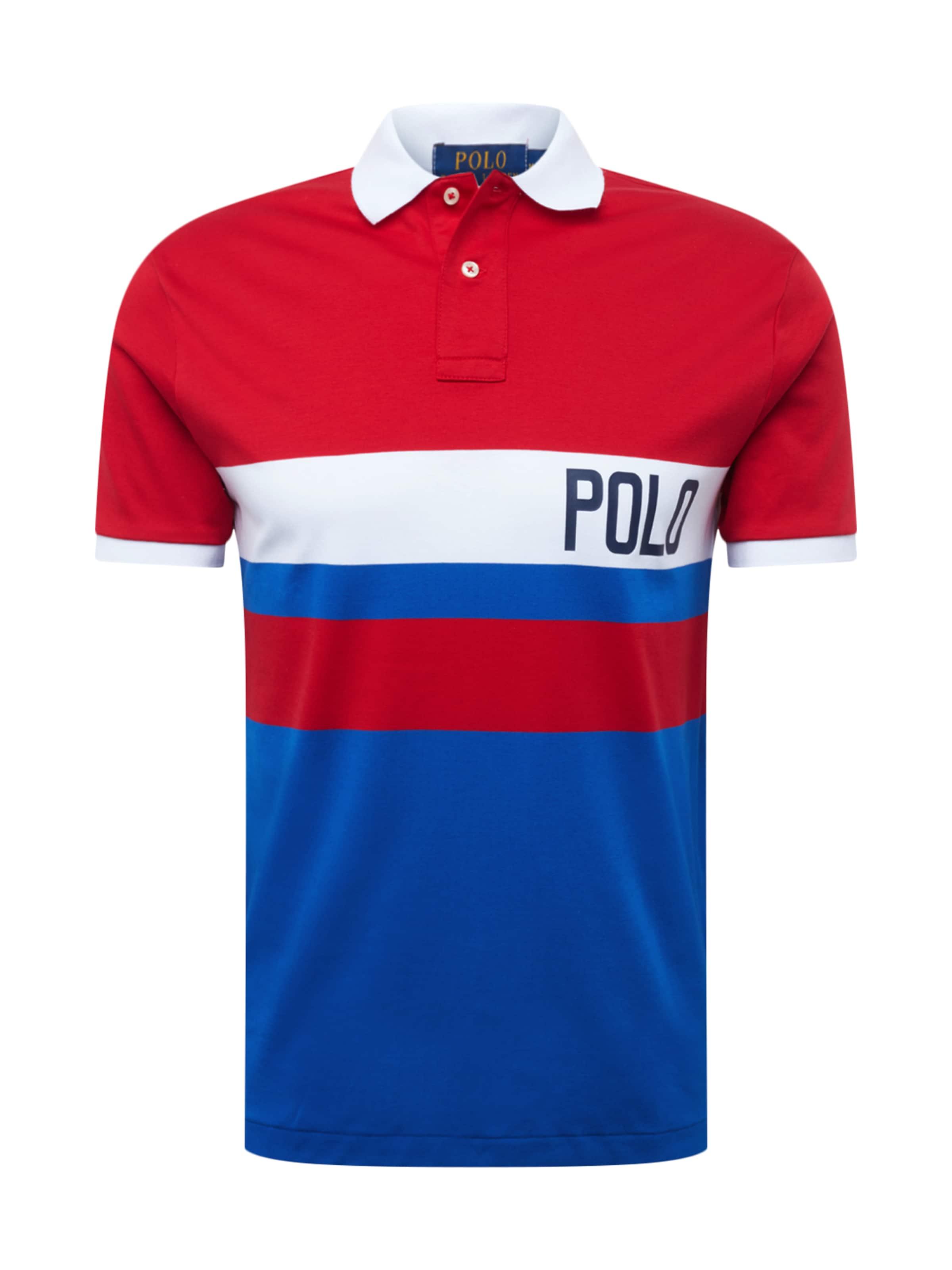 'soft Weiß Polo Lauren Ralph In Touch' BlauRot Poloshirt vmN0nw8