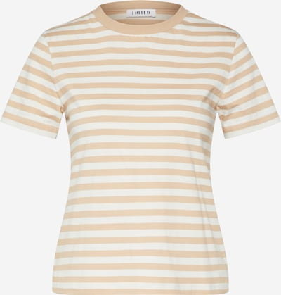 EDITED Shirt 'Leila' in camel / weiß, Produktansicht