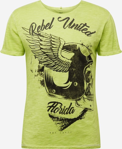 Key Largo T-Shirt 'Rebels United' en vert: Vue de face