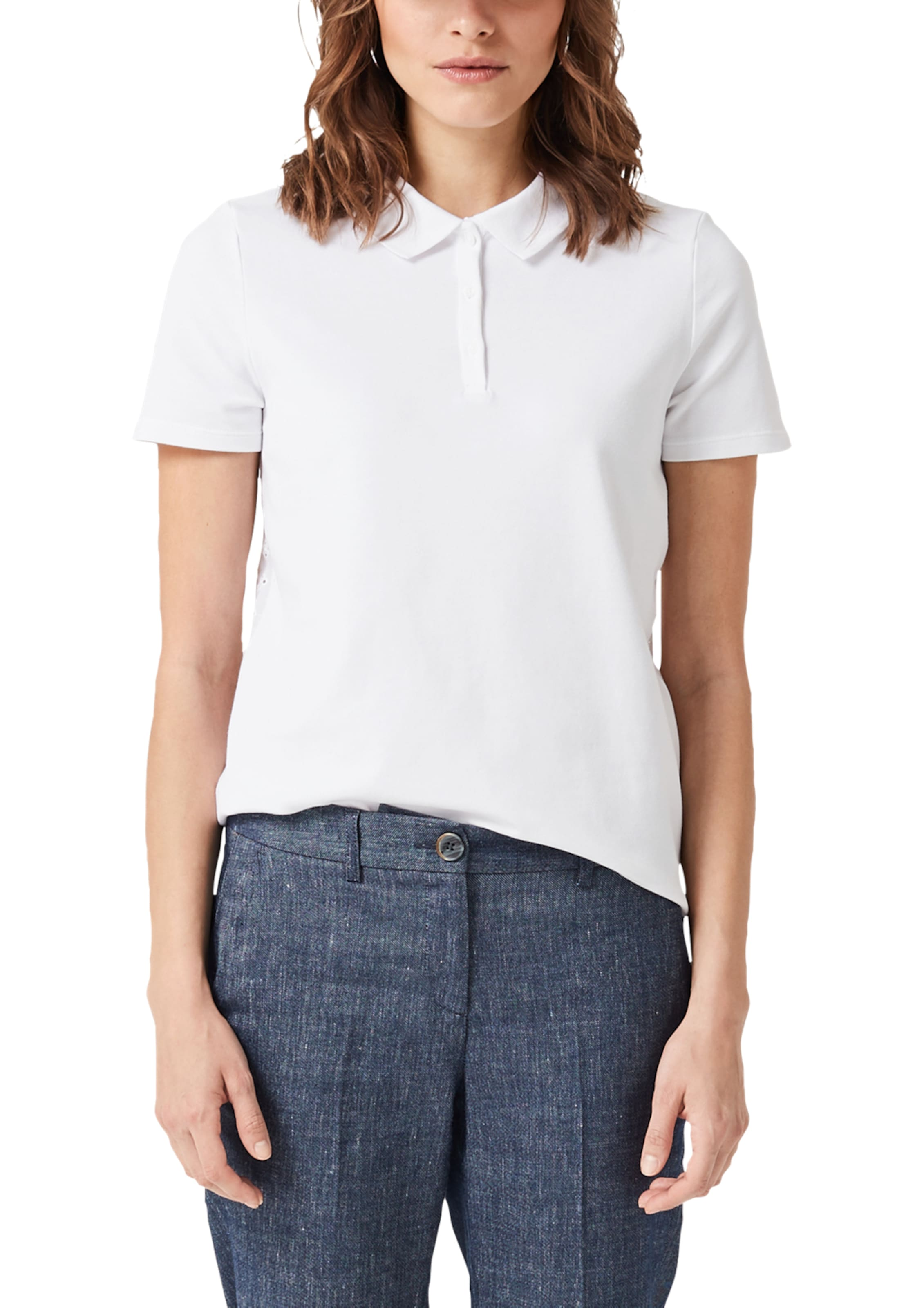 In Poloshirt Weiß Label Red oliver S IE92DWH
