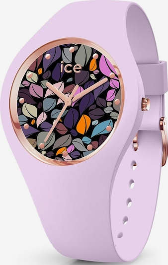 ICE WATCH Quarzuhr 'ICE flower, 017580' in flieder / schwarz, Produktansicht