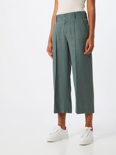 STREET ONE Hlače na crtu 'LTD QR Emee Wide Leg' u tamno zelena, Prikaz modela