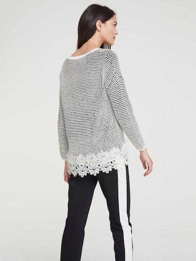 heine Sweter w kolorze czarny / offwhitem: Widok od tyłu
