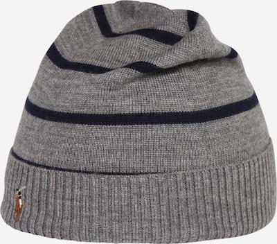 POLO RALPH LAUREN Mütze in graumeliert / schwarz, Produktansicht