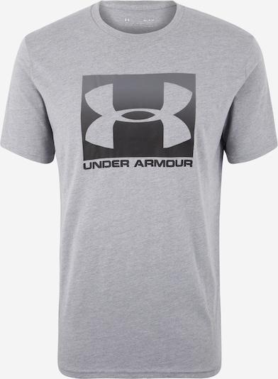 UNDER ARMOUR T-Shirt 'Boxed' in graumeliert / schwarz, Produktansicht