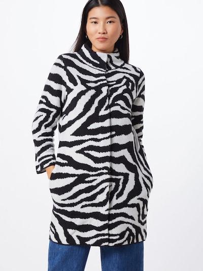 monari Mantel in schwarz / weiß, Modelansicht