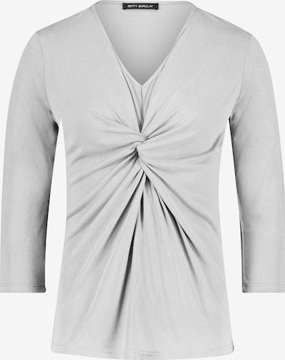 Betty Barclay Basic Shirt mit Lurexfaden in hellgrau: Frontalansicht