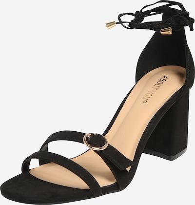 ABOUT YOU Sandaler med rem 'Carlotta' i sort, Produktvisning
