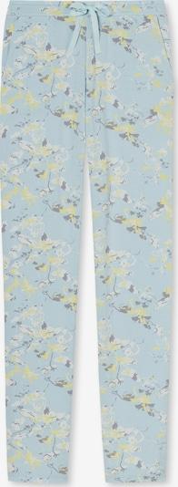 SCHIESSER Pyjamabroek 'Mix+Relax' in de kleur Lichtblauw / Geel / Antraciet / Wit, Productweergave