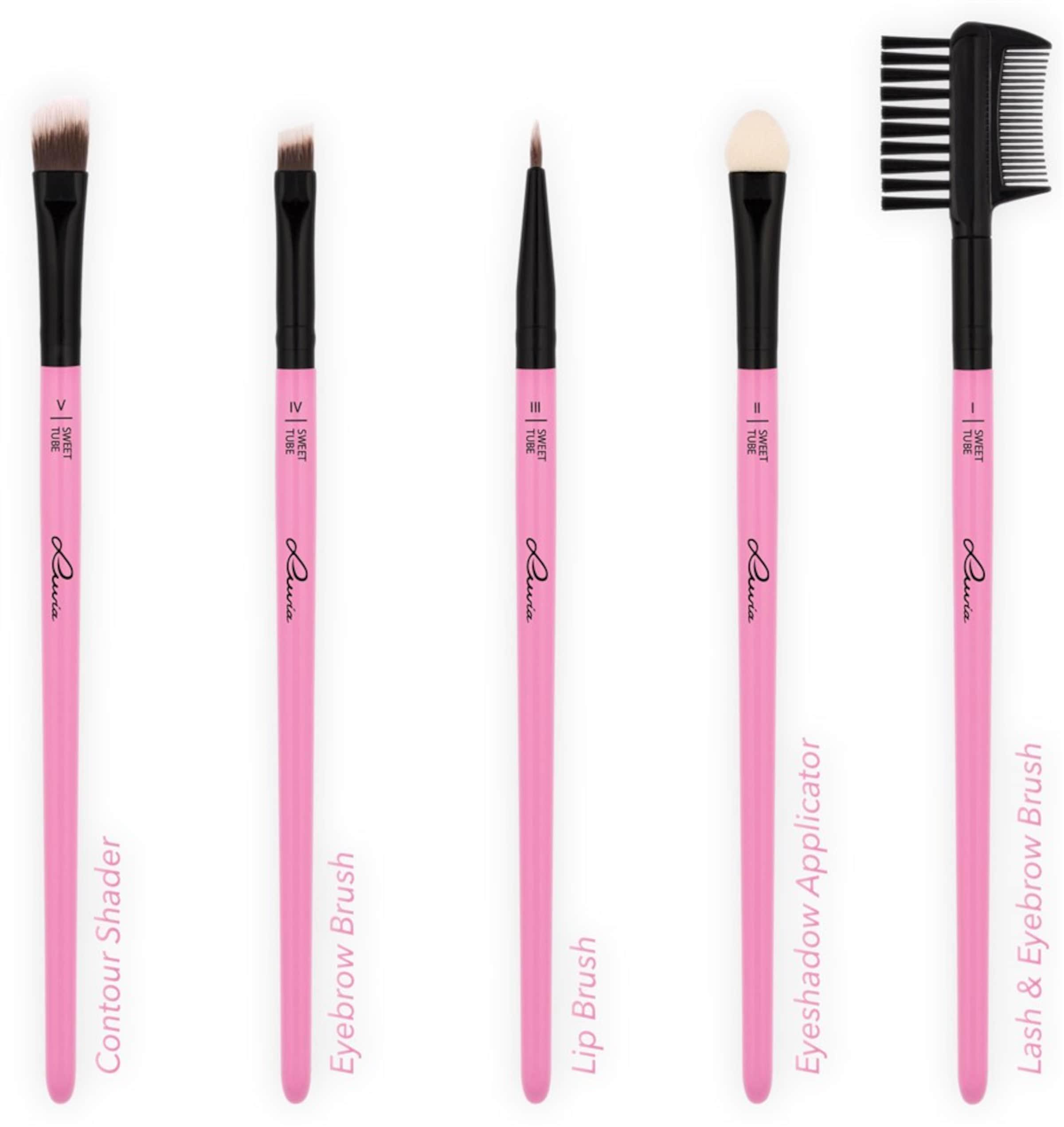 mit Pinselhalter Tube' 'Sweet Cosmetics Pinselset Veganes Luvia Make up Z0STRnT