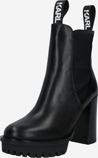 Karl Lagerfeld Chelsea boots 'Voyage IV' in de kleur Zwart / Wit, Productweergave