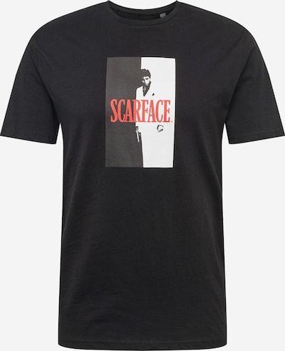 Only & Sons Shirt 'SCARFACE' in grau / schwarz, Produktansicht