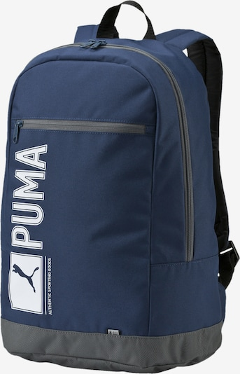 PUMA Rucksack 'Pioneer I' in navy / grau / weiß, Produktansicht