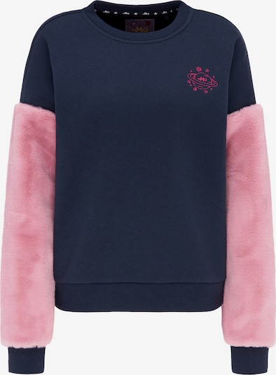 MYMO Sweatshirt in de kleur Marine / Rosa, Productweergave