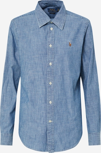 POLO RALPH LAUREN Blouse 'CHAMBRAY' in de kleur Blauw denim, Productweergave