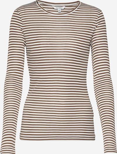 mbym Shirt 'Lilita' in braun / weiß, Produktansicht