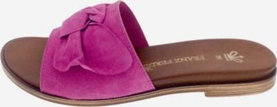 Franz Ferdinand Pantolette in lila, Produktansicht