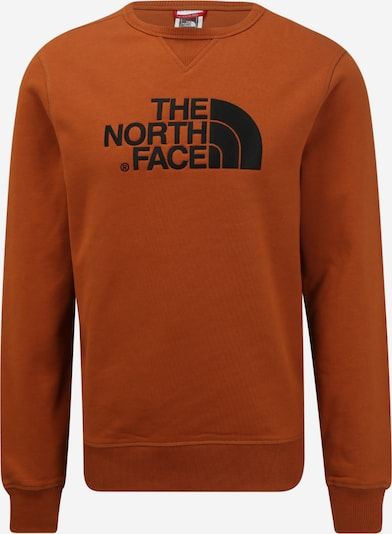 THE NORTH FACE Sportsweatshirt 'Drew Peak Crew' in de kleur Karamel / Zwart, Productweergave