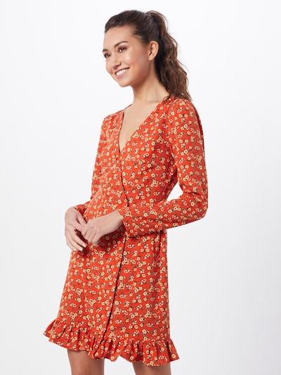 Fashion Union Kleid 'NATTIE' in orange / orangerot, Modelansicht