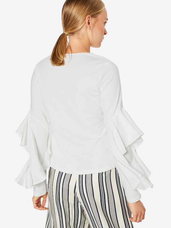 Sleeve Ink shirt With Woven Insert' Lost En T ' Blanc qVzMSUp