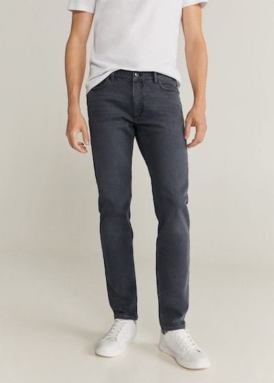 MANGO MAN Jeans in hellgrau, Modelansicht
