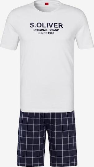 Pijama scurtă s.Oliver pe bleumarin / alb, Vizualizare produs