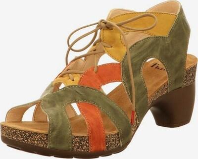 THINK! Sandalen in pastellgelb / pastellgrün / pastellorange, Produktansicht