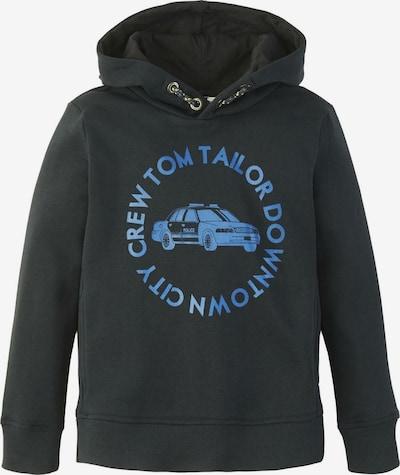 TOM TAILOR Strick & Sweatshirts Hoodie mit Schrift-Print in schwarz, Produktansicht