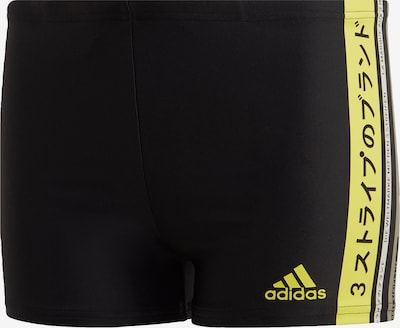 ADIDAS PERFORMANCE Badehose 'Graphic Boxer' in gelb / schwarz: Frontalansicht