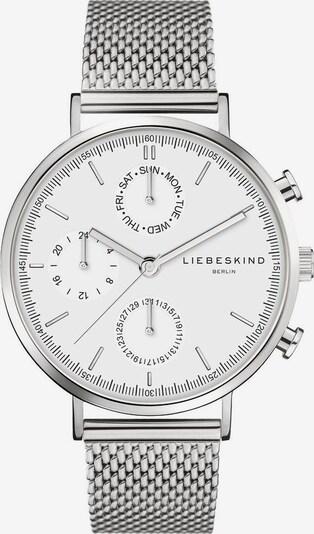 Liebeskind Berlin Montre à affichage analogique en argent / blanc, Vue avec produit