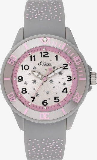 s.Oliver Uhr 'SO-3923-PQ' in grau / hellpink / weiß, Produktansicht