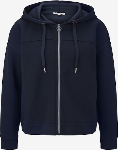 TOM TAILOR Sweatjacke in navy, Produktansicht