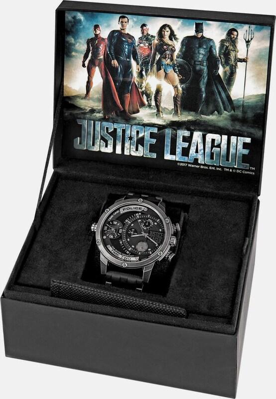 Police Multifunktionsuhr Adder Justice League, Pl14536jq.02p (set, 3 Tlg.)