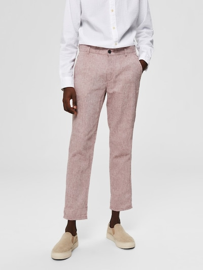 SELECTED HOMME Hose in beige / rosa: Frontalansicht