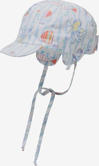 STERNTALER Schirmmütze in hellblau / gelb / mandarine / weiß, Produktansicht