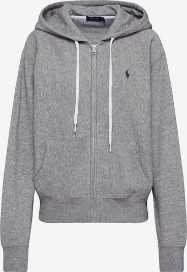POLO RALPH LAUREN Sweatvest 'LS ZIP HD-LONG SLEEVE-KNIT' in de kleur Grijs, Productweergave