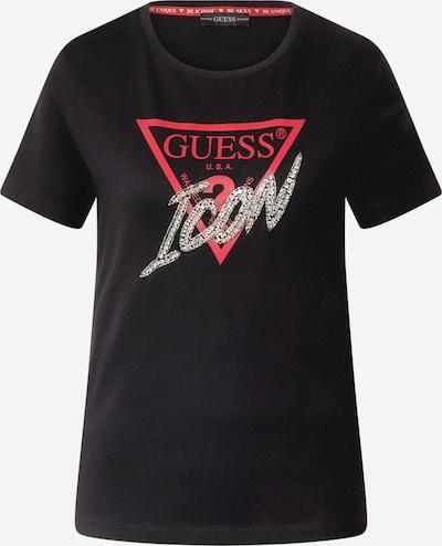 GUESS T-Shirt in rot / schwarz, Produktansicht
