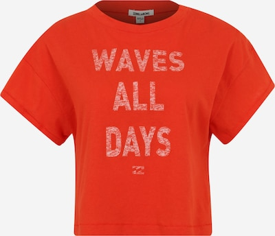 BILLABONG T-shirt fonctionnel 'paradise all day' en orange / blanc, Vue avec produit