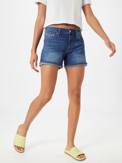 Džinsai iš Calvin Klein Jeans , spalva - tamsiai (džinso) mėlyna, Modelio vaizdas