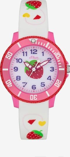 s.Oliver Uhr in pink / weiß, Produktansicht