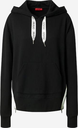 HUGO Sweatshirt 'Dreali' i svart / off-white, Produktvy