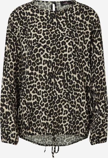 Zwillingsherz Blouse 'Delia' in de kleur Beige / Zwart, Productweergave
