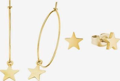 AMOR Ohrring-Set 'Sterne' in gold, Produktansicht