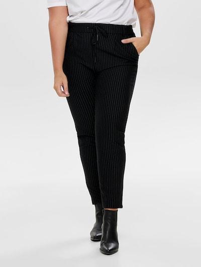 ONLY Carmakoma Pantalon 'Goldtrash' en noir: Vue de face