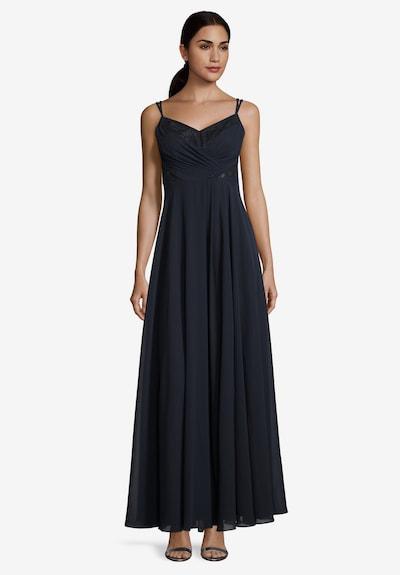 Vera Mont Abendkleid mit Spitze in blau: Frontalansicht