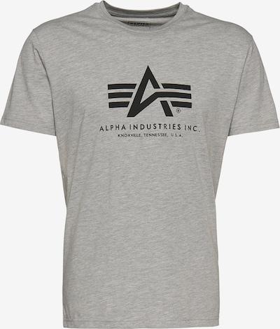ALPHA INDUSTRIES Print-Shirt in graumeliert: Frontalansicht