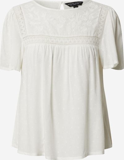 Tricou 'Ivory Embroidered Dobby Top' Dorothy Perkins pe alb, Vizualizare produs