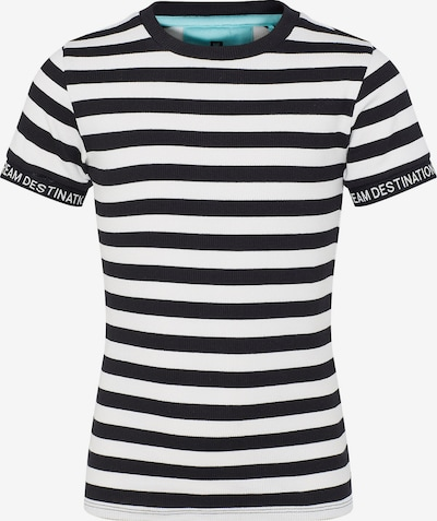 WE Fashion T-Shirt 'ANNE' in schwarz / weiß, Produktansicht